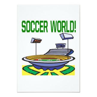 Mundo del fútbol invitación personalizada