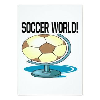 Mundo del fútbol invitación 12,7 x 17,8 cm