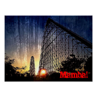 Mundo del roller coaster de la mamba de la diversi póster