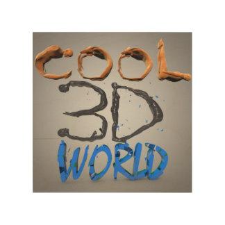 Mundo fresco 3D Impresión En Madera