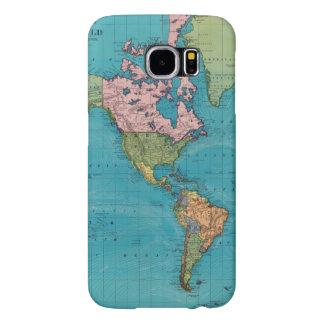 Mundo, la proyección de Mercator Funda Samsung Galaxy S6