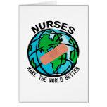 Mundo Notecard de las enfermeras Tarjetas
