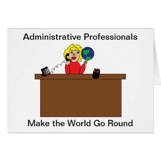 Mundo profesional administrativo (rubio) tarjeta de felicitación