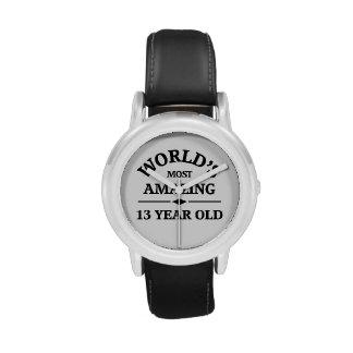 Mundo que sorprende 13 años reloj