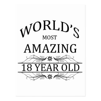 Mundo que sorprende 18 años postal