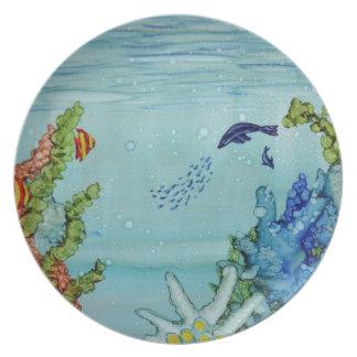 Mundo subacuático #1 plato