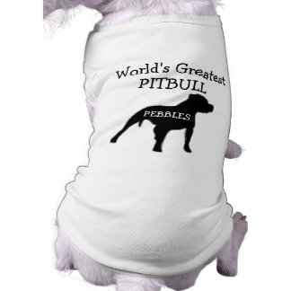 Mundos de encargo el Pitbull más grande Camiseta Sin Mangas Para Perro