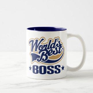 Mundos mejor Boss Taza De Café De Dos Colores