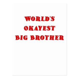 Mundos Okayest hermano mayor Postal