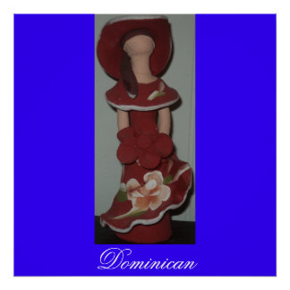 Muñeca de cerámica dominicana anónima pecado Rost Poster