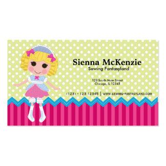 Muñeca de costura tarjeta de visita