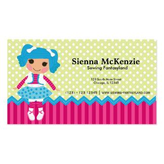 Muñeca de costura tarjetas de negocios