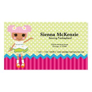 Muñeca de costura tarjetas de visita
