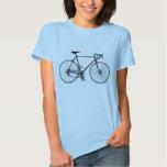 Muñeca de las señoras de la bicicleta (cabida) camiseta