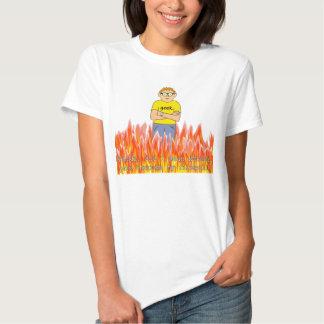 Muñeca de las señoras del cortafuego del friki camiseta