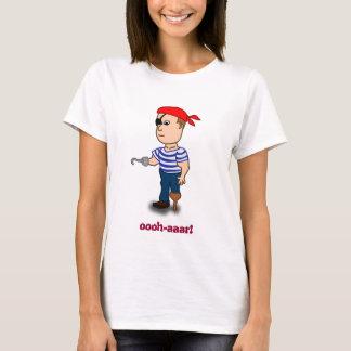 muñeca de las señoras del pirata de la camiseta