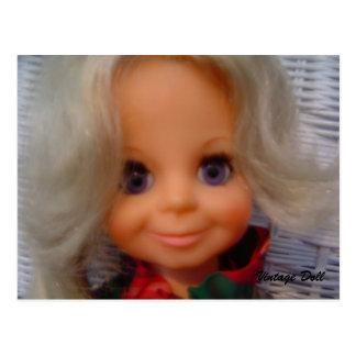 muñeca de los años 70 - postal
