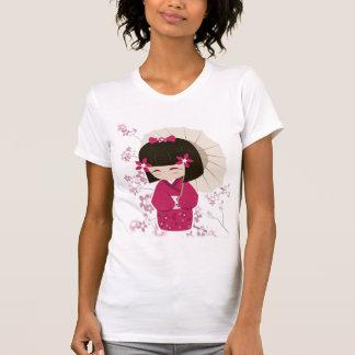Muñeca de Sakura Kokeshi Camisetas