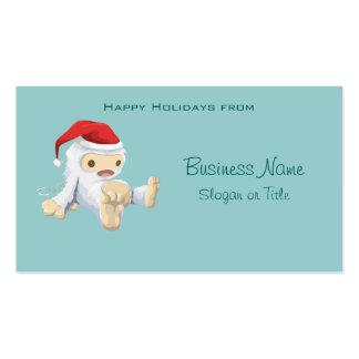 Muñeca de Yeti del navidad que lleva un gorra de Tarjetas De Visita