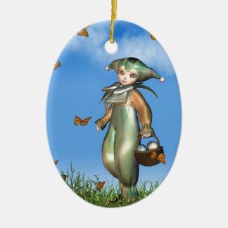 Muñeca del payaso de Pascua Pierrot con las maripo Adornos
