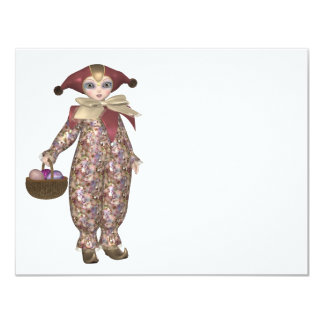 Muñeca del payaso de Pierrot con los huevos de Comunicado Personalizado