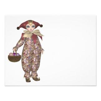 Muñeca del payaso de Pierrot con los huevos de Pas Comunicado Personalizado