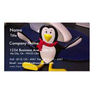 Muñeca del pingüino plantillas de tarjetas de visita