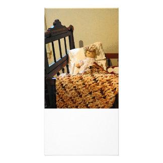 Muñeca en pesebre tarjetas personales