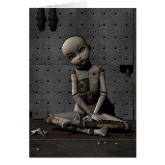 Muñeca espeluznante Zelda - tarjeta de