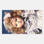 Muñeca linda de Shirley Temple Pegatina Rectangular