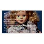 Muñeca linda de Shirley Temple Tarjetas De Negocios
