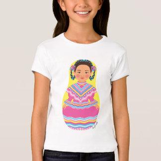 Muñeca mexicana de los chicas de Matryoshka del Camisetas