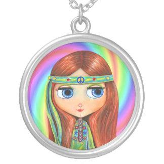 Muñeca verde del remolino del arco iris del chica  grimpolas personalizadas