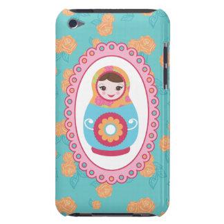Muñeca y rosas rusos lindos de la jerarquización d Case-Mate iPod touch cárcasa