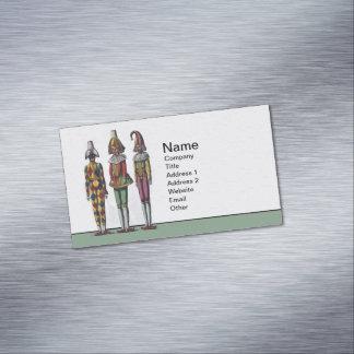 Muñecas caprichosas coloridas del bufón del tarjetas de visita magnéticas (paquete de 25)