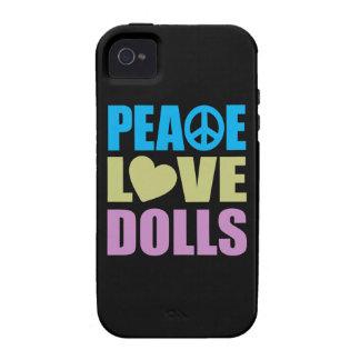 Muñecas del amor de la paz Case-Mate iPhone 4 carcasas
