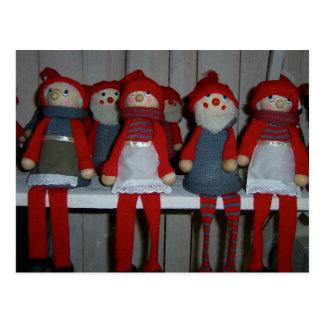 Muñecas escandinavas del navidad postal