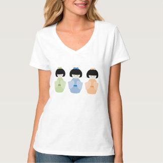 Muñecas japonesas camiseta