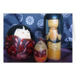 Muñecas japonesas felicitación