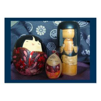 Muñecas japonesas tarjetas de visita