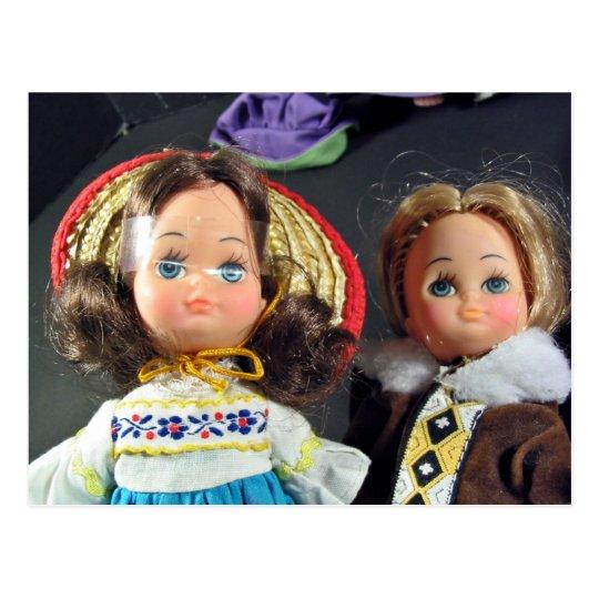 Muñecas lindas postal
