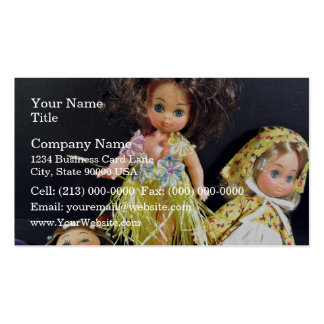 Muñecas lindas tarjetas de visita