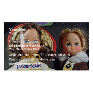 Muñecas lindas plantilla de tarjeta de negocio