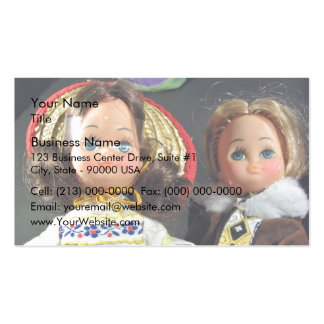 Muñecas lindas plantilla de tarjeta de visita