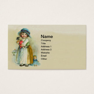 Muñecas rechonchas del gorra de las mejillas de la tarjeta de visita