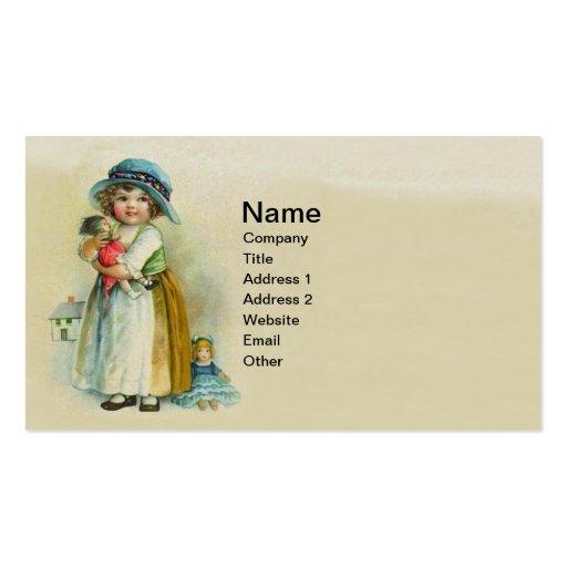 Muñecas rechonchas del gorra de las mejillas de la tarjetas de visita