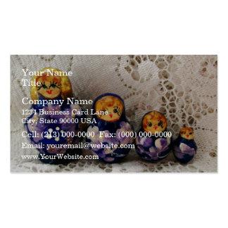 Muñecas rusas tarjeta de visita
