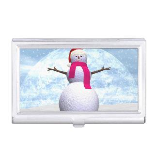 Muñeco de nieve - 3D rinden Caja Para Tarjetas De Visita