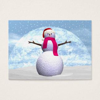 Muñeco de nieve - 3D rinden Tarjeta De Visita