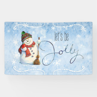Muñeco de nieve alegre LBJa Lona